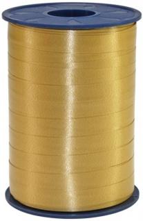 Geschenk oder Ballonband Gold 10mm 250 Meter Rolle