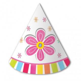 8 Blumen Party Hütchen