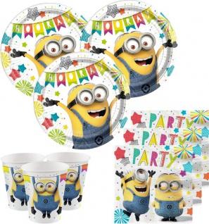 32 Teile Minions Let's Party Deko Set für 8 Kinder