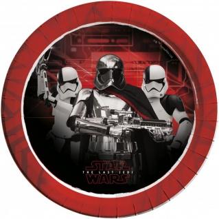 52 Teile Star Wars Episode 8 glänzend foliert Party Deko Set für 16 Personen - Vorschau 2