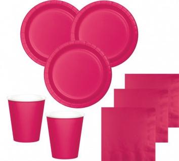 36 Teile Party Deko Set Pink Magenta für 8 Personen - Vorschau 1
