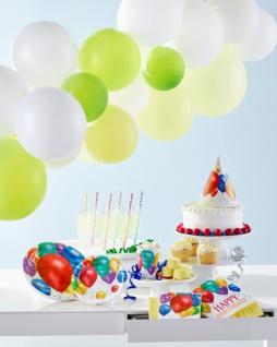 32 Teile bunte Ballons Geburtstags Party Deko Set für 8 Personen - Vorschau 5