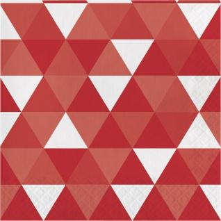 16 Servietten Fractals in Rot