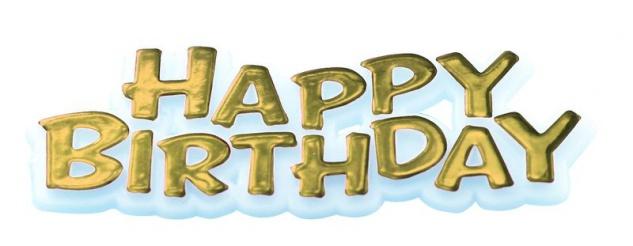 Happy Birthday Pick Gold - Vorschau