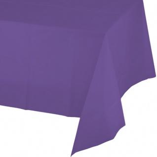 Plastik Tischdecke Neon Violett