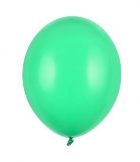 10 Luftballons Smaragd Grün Pastell 27cm