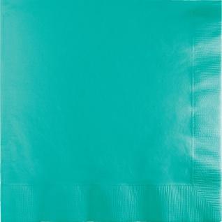 50 Servietten Lagunen Blau 3-lagig