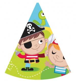 6 Party Hütchen Piraten Kinder