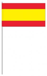 10 Papier Flaggen Fähnchen Spanien