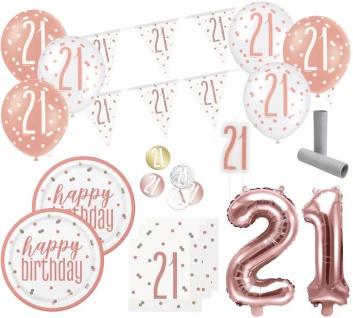 XL 36 Teile 21. Geburtstag Urban Apricot Party Deko Set 8 Personen