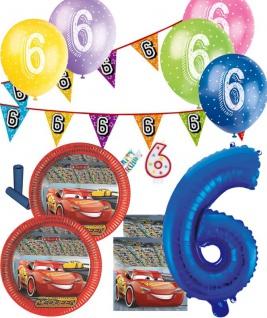 57 Teile 6. Geburtstag Disney's Cars Party Deko Set für 8 Kinder