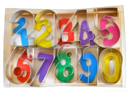 9 Teile Keks Ausstecher Set Zahlen 0-9