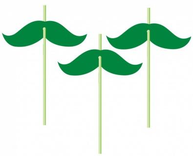 6 Trinkhalme St. Patricks Day Schnurrbart