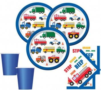 48 Teile Fahrzeug Stau Party Deko Set für 16 Kinder
