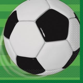48 Teile Fußball Party Deko Set für 16 Personen - Vorschau 4