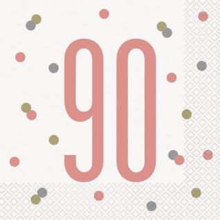 16 Servietten Urban Apricot zum 90. Geburtstag