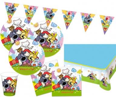 XL 38 Teile Hunde Wusel und Pip Party Set für 8 Kinder