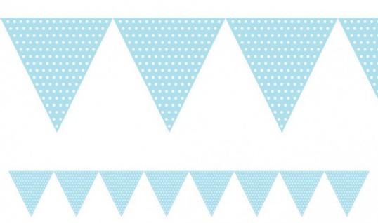 Wimpel Girlande Pastell Blau