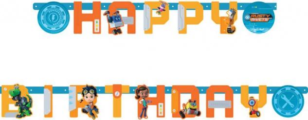 Geburtstags Girlande Rusty Rivets - kleiner Erfinder