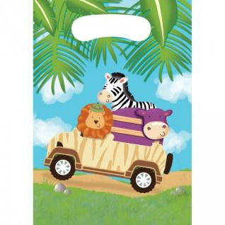 8 Party Tüten Safari Abenteuer