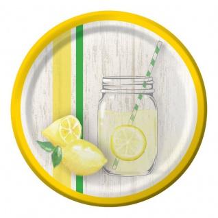 8 kleine Teller Limonaden Party