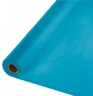 30 Meter Rolle Plastik Tischdecke Türkis