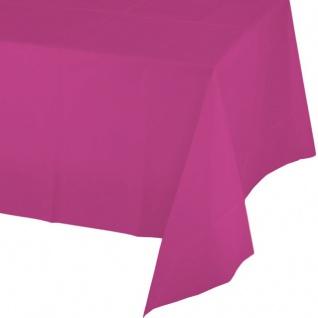 Tischdecke in Neon Pink