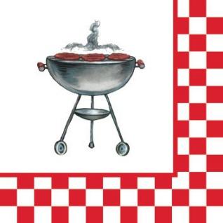 18 kleine Servietten Grill Party