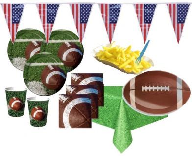 XXL 73 Teile American Football Superbowl Party Deko Set 16 Personen