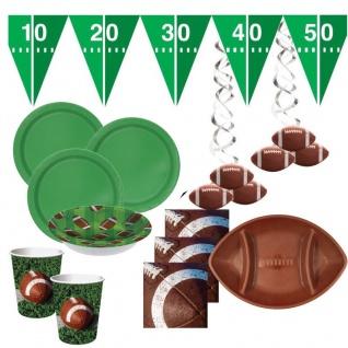 XXL 46 Teile American Football Superbowl Party Deko Set für 8 Personen Touchdown
