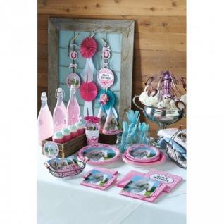 4 Kerzen Picks rosa Pferde - Vorschau 3