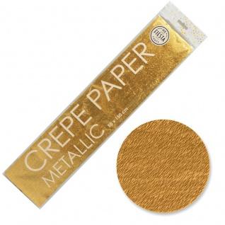 Bastelkrepp Gold Metallic 50x150 cm