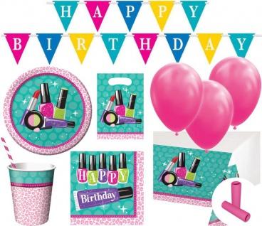 XL 63 Teile Beauty Geburtstags Party Deko Set für 8 Kinder