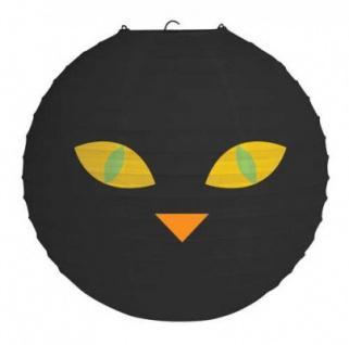 Papier Laterne Halloween Katze