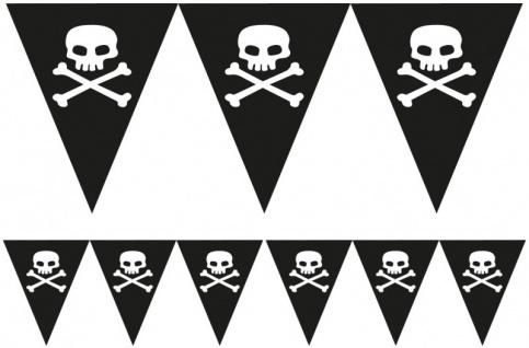 Totenkopf Wimpel Banner aus Papier