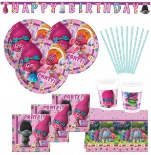 74 Teile Trolls Party Set für 16 Kinder