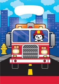8 Party Tütchen Feuerwehr Alarm