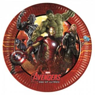 8 kleine Papp Teller Avengers Age of Ultron