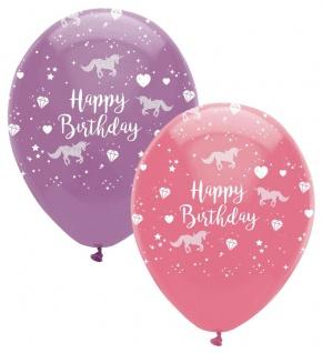 6 Geburtstags Luftballons Einhorn