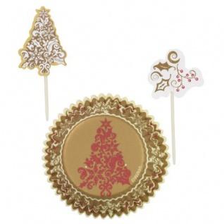 Muffin Förmchen Set Weihnachtsbaum