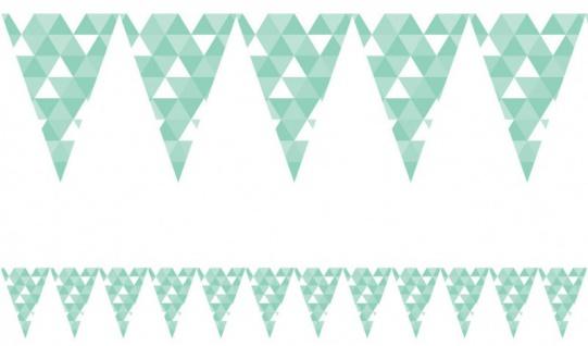 XXL 45 Teile Party Deko Set Mint Fractals für 8 Personen - Vorschau 4