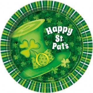 8 Teller St. Patricks Day grüner Hut