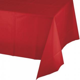 Plastik Tischdecke Klassisch Rot