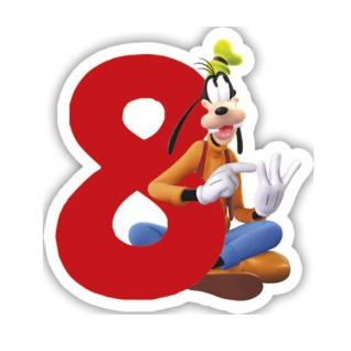 Micky Zahlenkerze 8