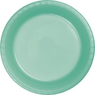 20 Plastik Teller Mint