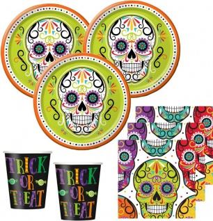 32 Teile Skelebration Halloween Party Deko Set für 8 Personen