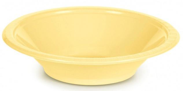 20 Plastik Schalen Pastell Gelb