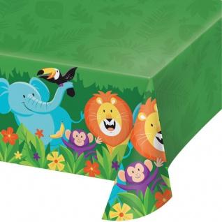 Plastik Tischdecke fröhliche Dschungel Party
