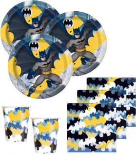 32 Teile Batman Superhero Party Deko Basis Set - für 8 Kinder