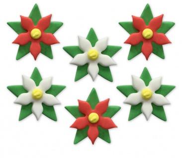 6 Zuckerfiguren Weihnachtsstern